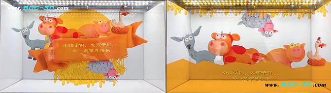 透明屏橱窗广告一体机,透明橱窗展示广告