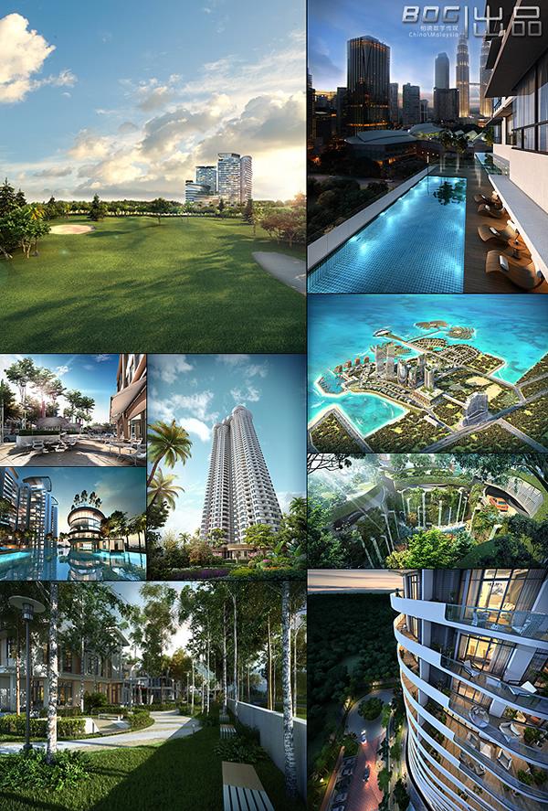 建筑效果图合集,三维效果图合集,地产效果合集,柏境案例